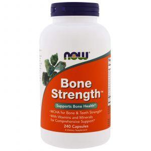 Гидроксиапатит кальция, прочные кости, Bone Strength, Now Foods, 240 капс