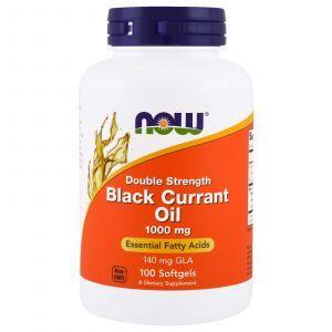 Масло черной смородины, Black Currant Oil, Now Foods, 1000 мг, 100 к