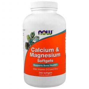 Кальций и магний, Calcium & Magnesium, Now Foods, комплекс, 240 кап