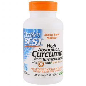 Куркумин С3 комплекс, Curcumin C3, Doctor's Best, 1000 мг, 120 т
