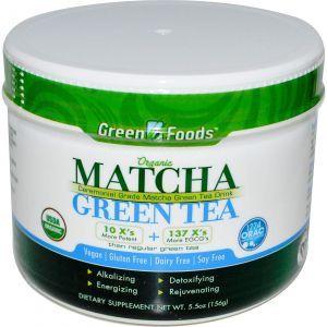 Зеленый чай Матча, Matcha Green Tea, Green Foods Corporation, органик, 156
