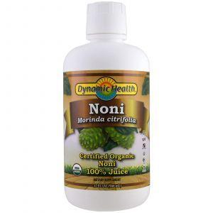 Сок нони, Noni Juice, Dynamic Health, органический натуральный, 946 м