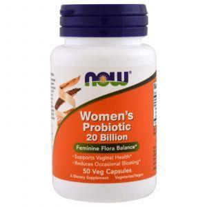 Пробиотики для женщин, Women's Probiotic, Now Foods, 20 млрд КОЕ, 50 капс
