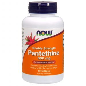 Пантетин, двойная сила, Pantethine, Now Foods, 600 мг, 60 ка