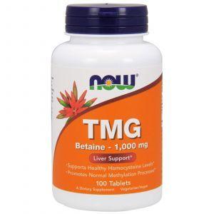 Триметилглицин (ТМГ), TMG, Now Foods, 1000 мг, 100 табле