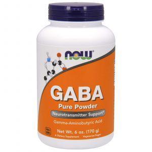 Гамма-аминомасляная кислота, GABA, Now Foods, порошок, 170