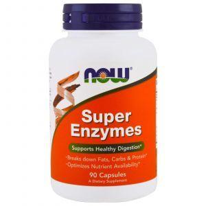 Пищеварительные ферменты, Super Enzymes, Now Foods, 90 капс