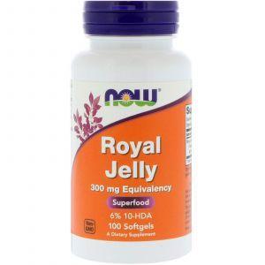 Маточное молочко, Royal Jelly, Now Foods, 100 гелевых капс