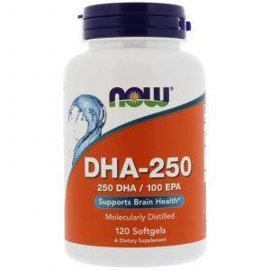 Рыбий жир, DHA-250, Now Foods, 120 капсу