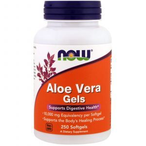 Алоэ вера, Aloe Vera Gels, Now Foods, 250 капс