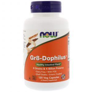 Пробиотики, Gr8-Dophilus, Now Foods, 8 млрд КОЕ, 120 капс