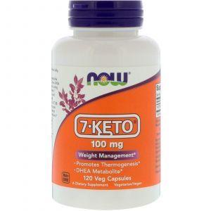7 кето DHEA, 7-Keto, Now Foods, 100 мг, 120 кап