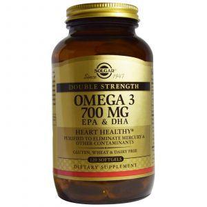 Рыбий жир (Omega-3, EPA DHA), Solgar, 700 мг, 120 капс