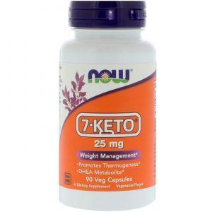 7 кето Дегидроэпиандростерон, 7-KETO, Now Foods, 25 мг, 90 кап