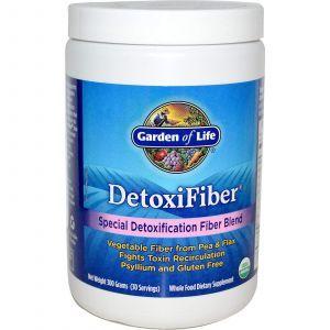Очищающая смесь с клетчаткой, DetoxiFiber, Garden of Life, 300 г