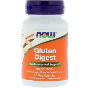 Ферменты для переваривания глютена, Gluten Digest, Now Foods, 60 капсул