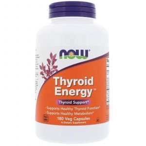 Для щитовидной железы, Thyroid Energy, Now Foods, 180 капс