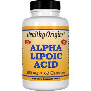 Альфа-липоевая кислота, Healthy Origins, 300 мг, 60