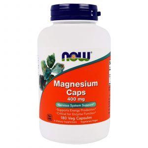 Магний аспартат, Magnesium, Now Foods, 400 мг, 180 капсу