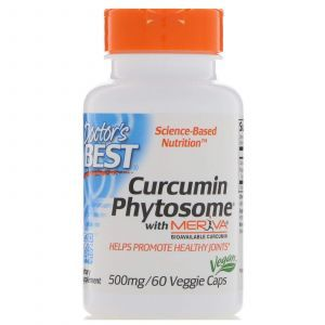 Куркумин, Curcumin Phytosome, Doctor's Best, 500 мг, 60 ка