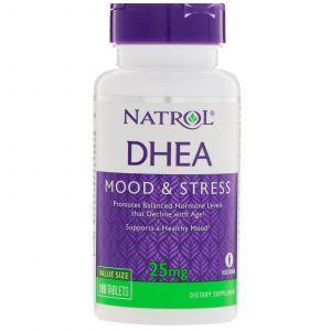 Дегидроэпиандростерон, DHEA, Natrol, 25 мг, 180 таблет