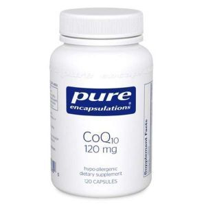 Коэнзим Q10, CoQ10, Pure Encapsulations, 120 мг, 120 капсул