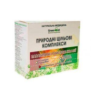 """Природный целевой комплекс """"Гименолепидоз, тениаринхоз, тениоз (карликовый, бычий, свиной цепень)"""" Курс 3, GreenSet, растительные препараты, 4 шт"""