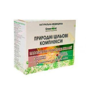 """Природный целевой комплекс """"Лямблиоз, описторхоз"""" Курс 1, GreenSet, растительные препараты, 4 шт"""