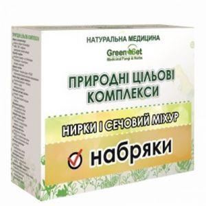 Отеки почечного происхождения, набрячный синдром, GreenSet, природный целевой комплекс, растительные препараты, 4 шт