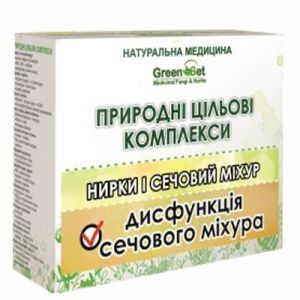 Дисфункция мочевого пузыря. Курс для женщин, GreenSet, природный целевой комплекс, растительные препараты, 4 шт