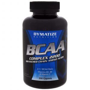 Аминокислоты с разветвленной цепью, BCAA Complex 2200, Dymatize Nutrition, 200 кап.