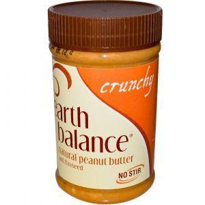 Хрустящее арахисовое масло со льном, Earth Balance, 453 г