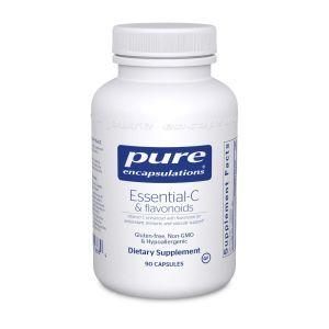 Essential-C и флавоноиды, Essential-C & flavonoids, Pure Encapsulations, 90 капсул