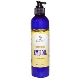 Очищенное масло эму, Emu Oil, Emu Gold, 240 мл