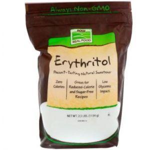 Эритрит (сахарозаменитель), Now Foods, 1134 г
