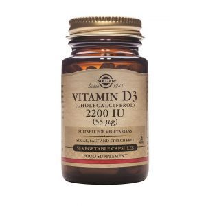 Витамин Д3, Vitamin D3 2200 IU, Solgar, 55 мг, 50 капсул (Default)