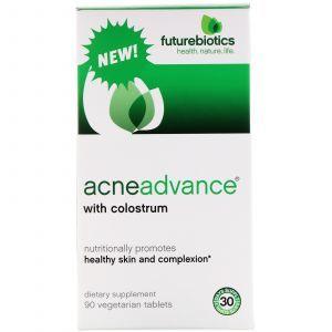 Средство от прыщей с молозивом, Acne Advance with Colostrum, FutureBiotics, 90 таб.