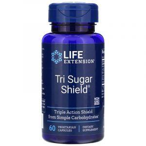 Снижение сахара в крови, Tri Sugar Shield, Life Extension, 60 капсул