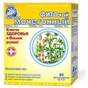 Фиточай №9, Ключи здоровья, мочегонный, 20 фильтр-пакетов по 1.5 г