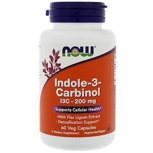 Индол 3 Карбинол, Indole-3-Carbinol, Now Foods, 200 мг, 60 капсул