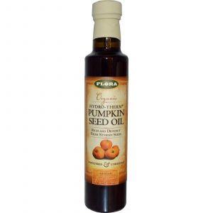 Тыквенное масло нефильтрованное (Pumpkin Seed Oil), Flora, 250 мл