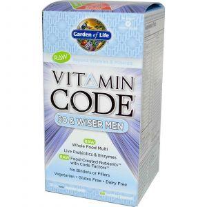 Витамины для мужчин, Garden of Life, 50+, 120 капсул