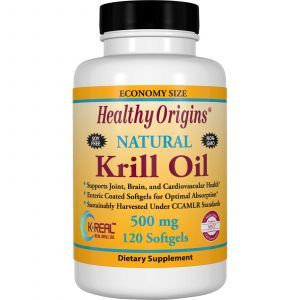 Масло криля, Odorless Krill Oil, Healthy Origins, 500 мг, 120 капсул