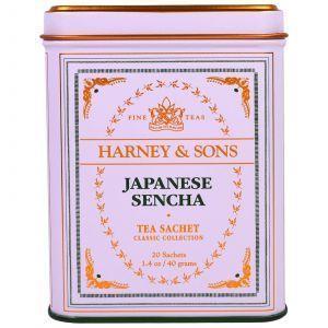 Японский чай Сенча, Japanese Sencha Tea, Harney & Sons, 20 штук, 40 г