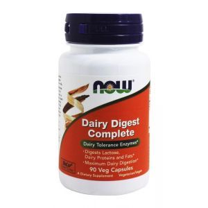Лактаза (Dairy Digest Complete), Now Foods, 90 капсул