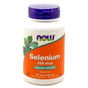 Селен (Selenium), Now Foods, 200 мкг, 180 капсу