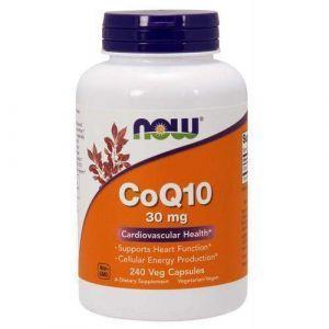 Коэнзим Q10 (CoQ10), Now Foods, 30 мг, 240 кап