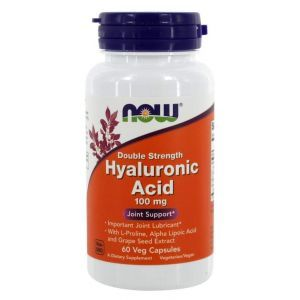 Гиалуроновая кислота, Hyaluronic Acid, Now Foods, 100 мг, 60 капс