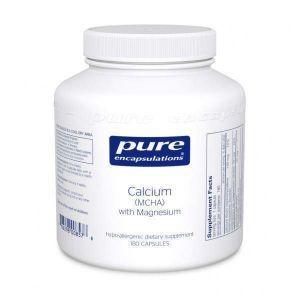 Кальций (MCHA) с магнием, Calcium (MCHA) with Magnesium, Pure Encapsulations, 180 капсул