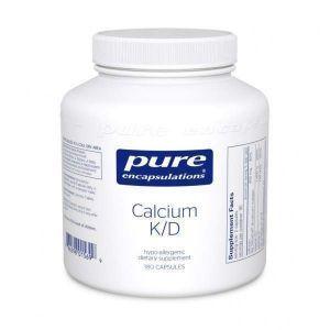 Кальций с витаминами K и D, Calcium K/D, Pure Encapsulations, 180 капсул